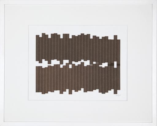 Véra MOLNAR - Disegno Acquarello - Deux rangées de rectangles