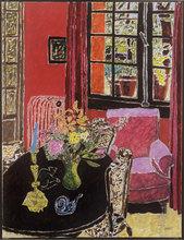 Vincent BIOULES (1938) - Intérieur rouge