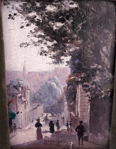 Enrique Atalaya GONZALES - Painting - CALLE DE PARIS