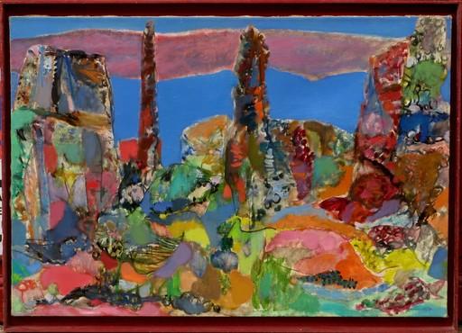 Miloje TODOROVITCH - Pintura - PAYSAGE DE BORD DE MER