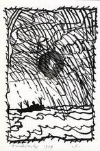 Pierre ALECHINSKY - Dibujo Acuarela - Volturno