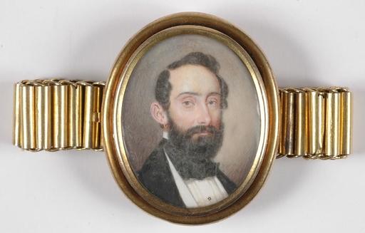 "Patricius KITTNER - 缩略图  - ""Bracelet with Portrait Miniature"", Signed, 1854"