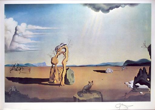 Salvador DALI - Estampe-Multiple - Les Betes Sauvages dans le Desert