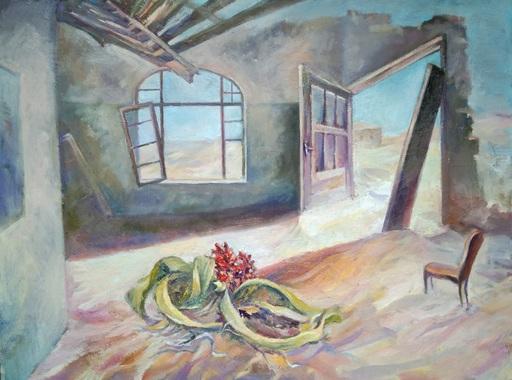 Evgeny BOCHAROV - Painting - Flower in the Living Room