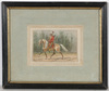 "Alexander II RITTER VON BENSA - Dibujo Acuarela - ""Russian Emperor's escort cossack"", watercolor, ca. 1880"