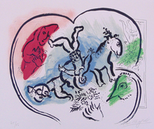 Marc CHAGALL - Estampe-Multiple - The Heart of the Circus | Le Coeur de Cirque