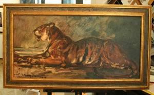 Hans Jörg WAGNER - Pintura - Tiger