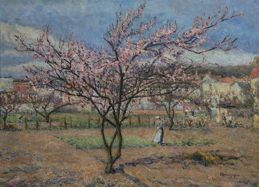 Emilio BOGGIO - Peinture - Le pêcher en fleurs