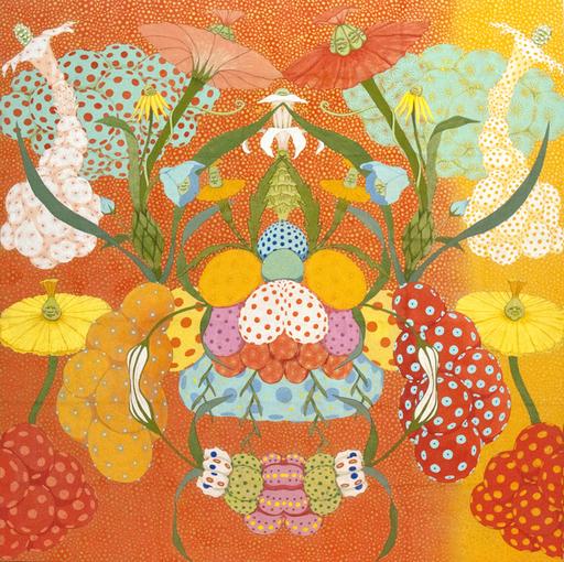 Mari ITO - Painting - Origen del deseo - Arcoiris naranja