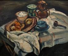 Emile Othon FRIESZ - Painting - Natura morta con caffettiera, 1940