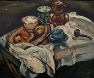 Emile Othon FRIESZ - Gemälde - Natura morta con caffettiera, 1940