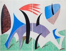 David HOCKNEY (1937) - Diptychon