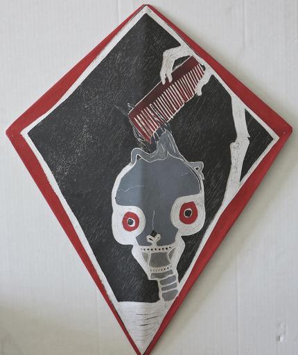 Francisco TOLEDO - 绘画 - Abstract Red Comb kite