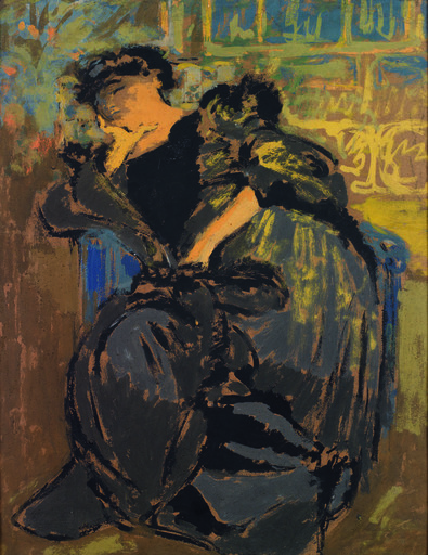 Édouard VUILLARD - Pintura - Madame Hessel somnolant