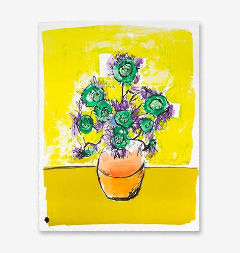 Anthony LISTER - Grabado - Marilyn Van Gogh Sun Flowers HPM (Yellow Edition)