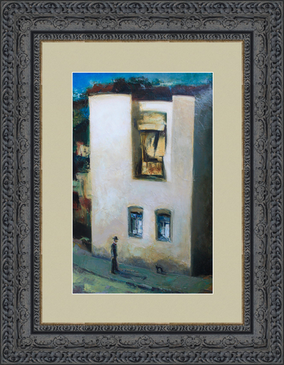 Levan URUSHADZE - Gemälde - Man and black cat