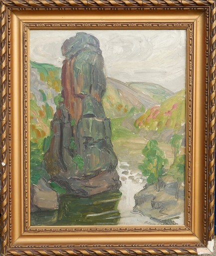 Adrien BAS - Painting - LA ROCHE PEREANDRE - ANNONAY - ARDECHE