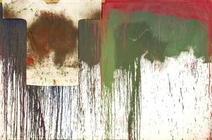 Hermann NITSCH - Painting - Schüttbild mit Hemd