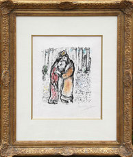 Marc CHAGALL - Grabado - David and Bathsheba