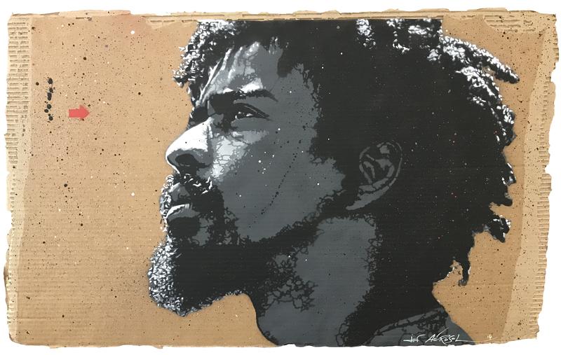 JEF AÉROSOL - Peinture - Seu jorge