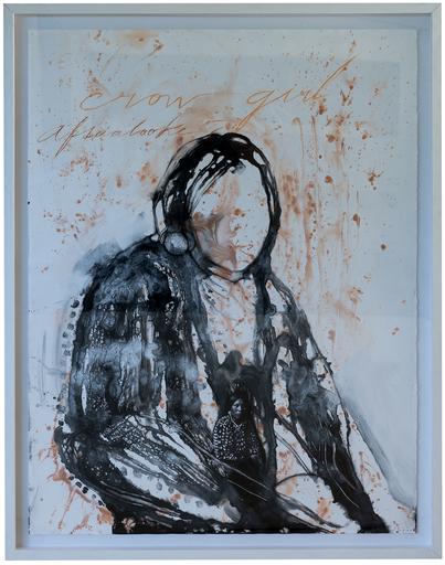 José BEDIA VALDÉS - Drawing-Watercolor - Crow Girl