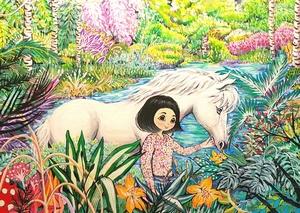 Seung-Hun SHIN - Peinture - Fantasy Jejuisland No.4