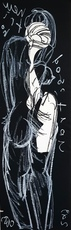 Christian BONNEFOI - Drawing-Watercolor - Dos III