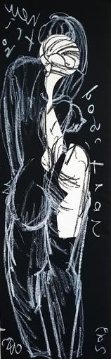 Christian BONNEFOI - Disegno Acquarello - Dos III