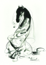 Sunil DAS - Drawing-Watercolor - Horse