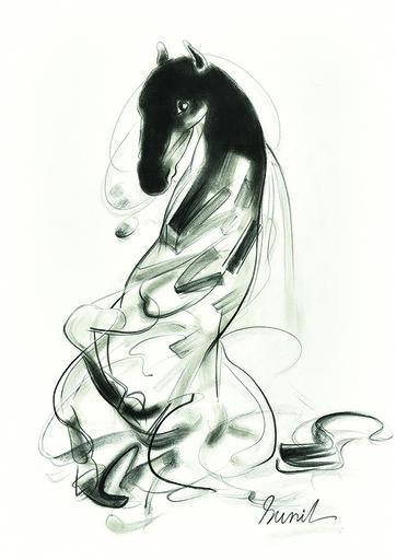 Sunil DAS - Dibujo Acuarela - Horse