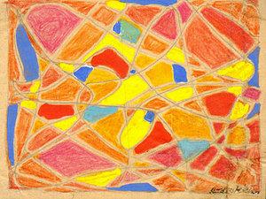 Rudolf MÖLLER - Disegno Acquarello - Abstrakte Komposition