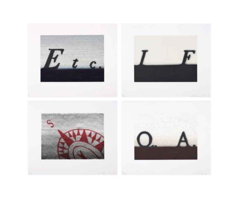 Ed RUSCHA - Print-Multiple - Etc - If - South - and Question & Answer
