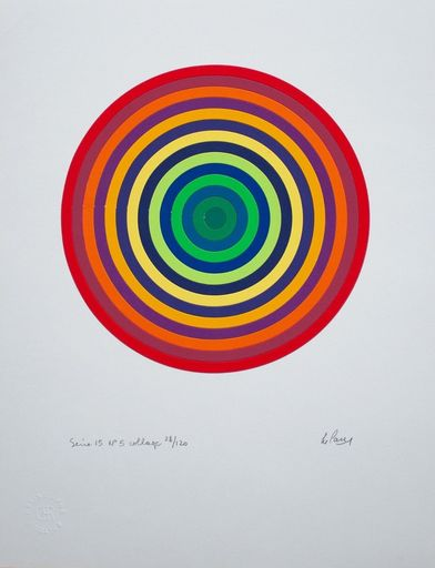 Julio LE PARC - Estampe-Multiple - Serie 15 No. 5