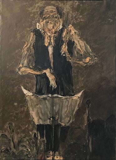 Roger-Edgar GILLET - 绘画 - Maitre de musique, 1978