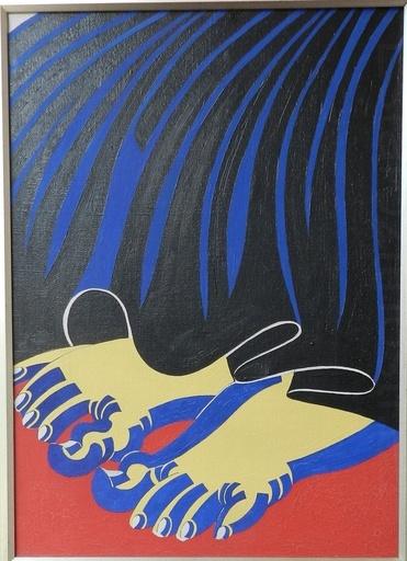 Frantisek HÜBEL - Painting - Bare women