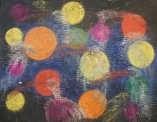 Hunt SLONEM - Painting - Orbit