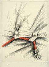 Peter KLASEN - Print-Multiple - GRAVURE COLORÉE MAIN SIGNÉE CRAYON NUM/2 HANDSIGNED ETCHING