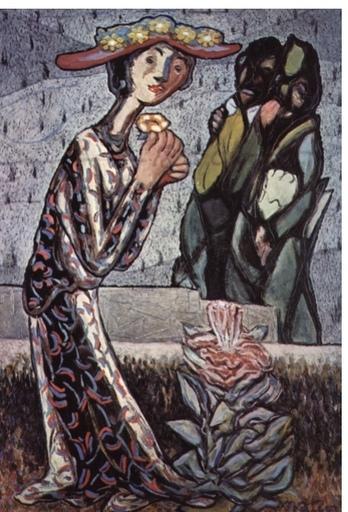 """Francisco MATEOS GONZÁLEZ - Painting - """"La primavera"""""""