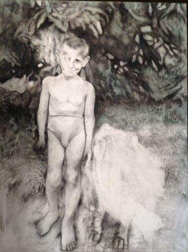 Lyudmyla RAZBITSKAYA - Drawing-Watercolor - Me and my friend    (Cat N° 5427)