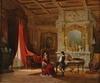 """Achile BATIZTUTZZI - Painting - """"Interior Scene"""", 1876"""