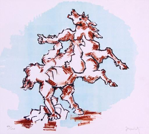 Jacques LIPCHITZ - Druckgrafik-Multiple - The Horse/Prometheus,