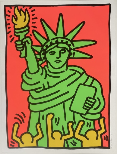 Keith HARING - Estampe-Multiple - Statue of Liberty