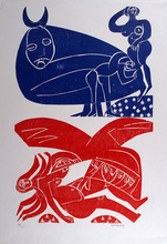 Helmut Andreas Paul GRIESHABER - Print-Multiple - Paar in halber Figur