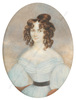 """Johann Nepomuk ENDER - Miniatur - """"Young lady in blue"""", important large miniature!! ca.1830"""