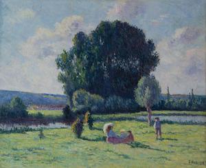 Maximilien LUCE - Painting - Famille se reposant au soleil