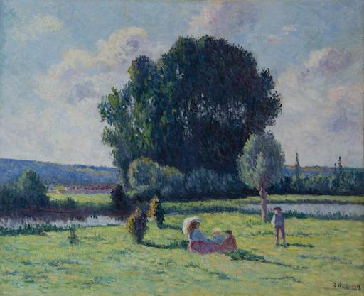 Maximilien LUCE - Gemälde - Famille se reposant au soleil