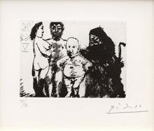 Pablo PICASSO (1881-1973) - Petit vieux flatté par la célestine, from 'Séries 347'