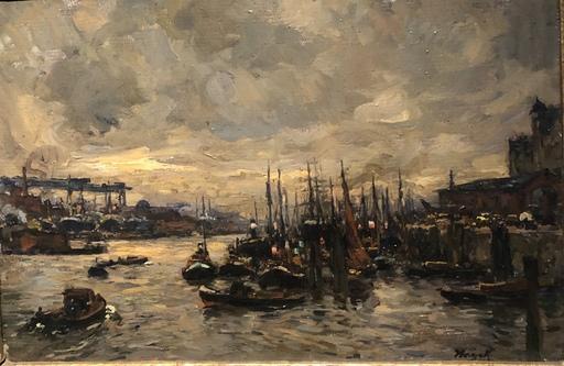 Marie HAGER - Peinture - Hamburger Hafen