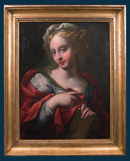 Pietro DANDINI - Painting - Santa Paolina