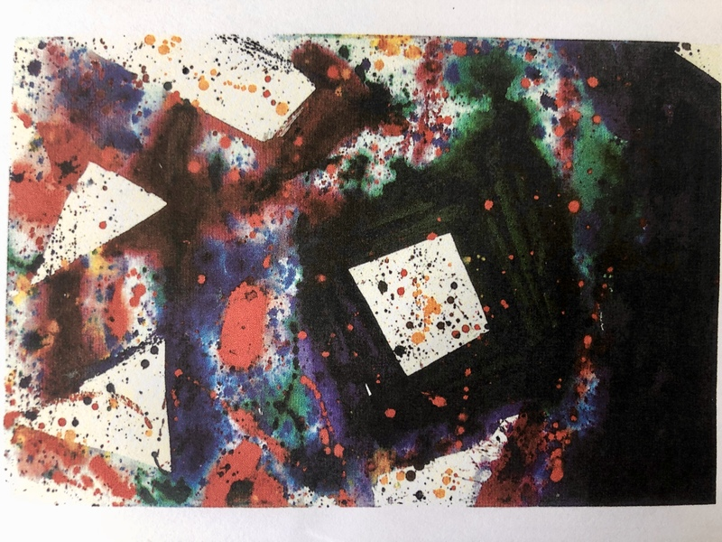 Sam FRANCIS - Painting - THE WEIGHT AT  THE CENTER